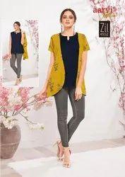Rayon, cotton Half Sleeves Aarvi Fashion Kurtis Leggings