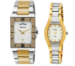 Silver Gold Stainless Steel Watch Pair
