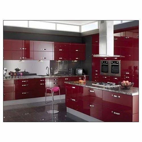 Bedroom Designs From Professionals In Hyderabad  C2NyYXBlLTEtRHBWSGVH: Laminated Modular Kitchen Manufacturer