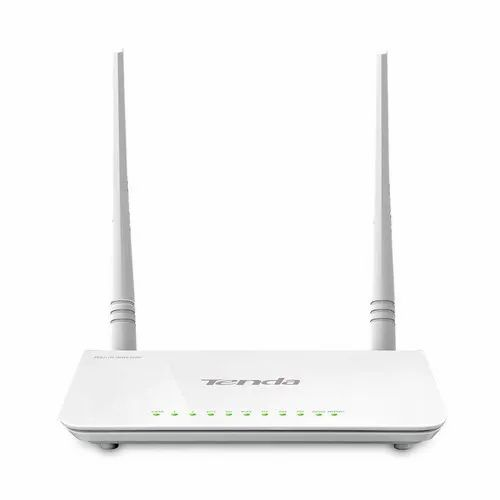 White TENDA D303 Wireless N300 ADSL2 /3G Modem Router (All in One)