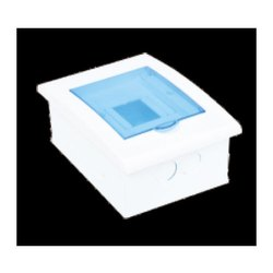 Single Door White And Blue 1 Way MCB Box, for Electric Fittings
