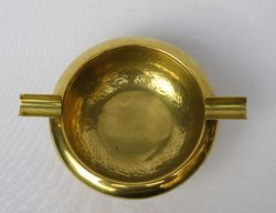 German Style Art Design Brass Ashtray