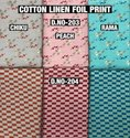 Cotton Linen Foil Print Fabric