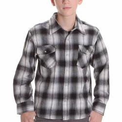 Party Wear Check Kids Cotton Shirt