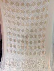 Chiffon A-Line Georgette Chikankari Suit, For Cloth, Machine wash