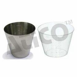 ATICO White and Silver Medicine Cup, for Hospital
