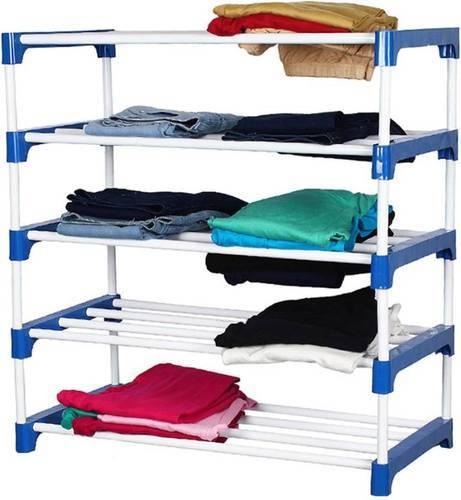 SBI Multi Colour Stainless Steel Shoe Rack 4 Shelves