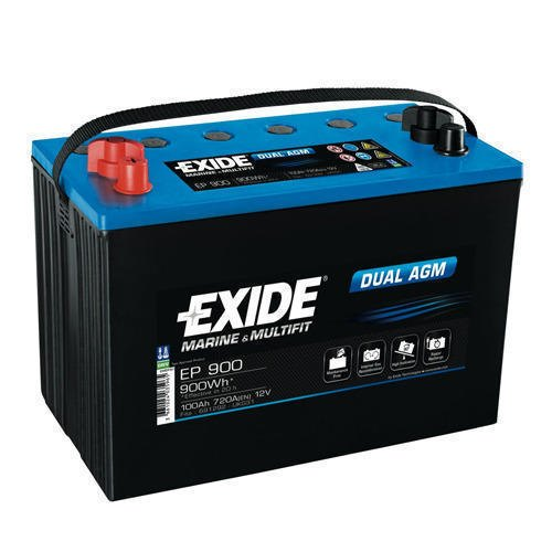 EP900 Exide Rechargeable Battery, Capacity: 100 Ah, Voltage: 12 V
