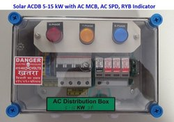 Solar ACDB 5-15 KW Three Phase with AC SPD, RYB Lamp