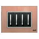 4 Module Brush Copper Modular Switch Plate