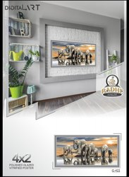 Multicolor Ceramic Poster Tiles, Thickness: 10 - 12 mm, Size: Large