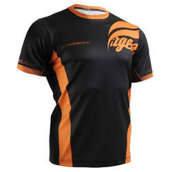 Polyester Half Sleeves Round Neck Promotional T Shirt