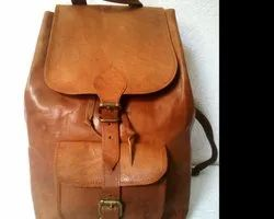 Goat Leather Flap Closure Backpack