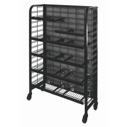 Black Stainless Steel Retail Display Rack, for Malls