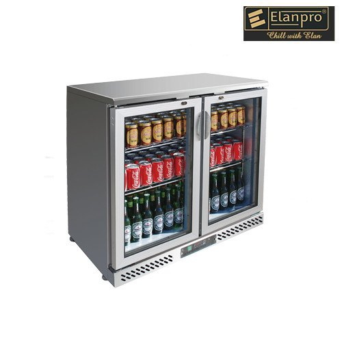 Elanpro 223 Ltrs Double Door Stainless Steel Back Bar Cooler