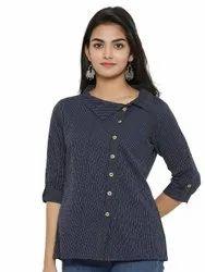Yash Gallery Women's Cotton Printed Shirt