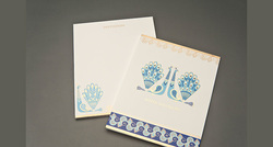 Paper Peacock Series Wedding Card