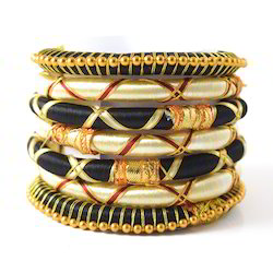 Anmol Exports Indian Handcraft Traditional Sari Wear Silk Thread Bangles
