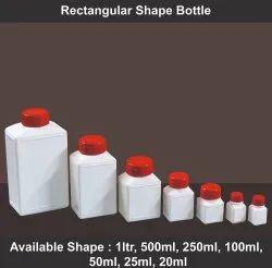Screw Cap White Rectangular Shape Bottle, For Packaging, 20 ml