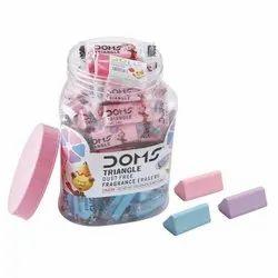 Doms Triangle Dust Free Fragrance Eraser Jar (50 Pcs)
