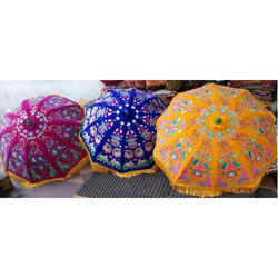 Velvet Embroidery Wedding Umbrella