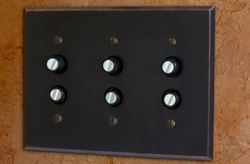 Antique Push On Light Switch