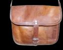 Genuine Leather Landscape Satchel Bag
