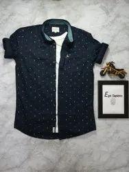 Casual Wear Cotton Printed Shirts For Men, Size: M l xl xxl