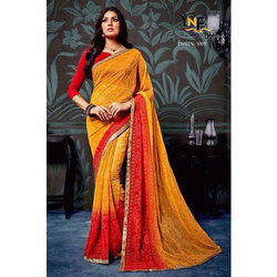 d804a3189380da Casual Wear Ladies Red And Yellow Saree