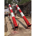 Metco Red And White Basketball Pole Fixed
