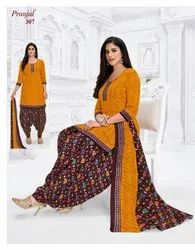Pranjul Printed Readymade Patiyala Salwar Suit, Machine wash