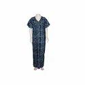 Night Wear Gown Stitched Ladies Cotton Nightwear Gown