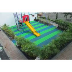 Arihant Playtime - Theme Stripey Rubber Flooring