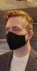 Reusable Black Cotton Facemask With Fusing