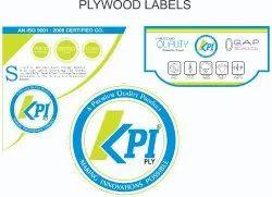 Plywood Label Sticker