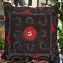 Black Embroidery Cushion Cover