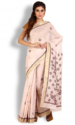 Light Pink Kota Cotton Saree With Chikankari