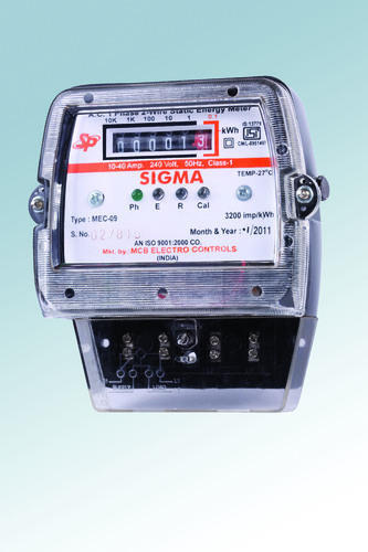 Sigma 2 Wire Static Energy Meter, 240 V