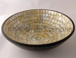 Dainty Mother Of Pearl Serving Bowl