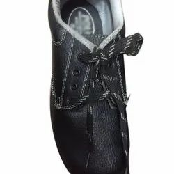 Black Mens Safety Lace Shoes, Packaging Type: Box