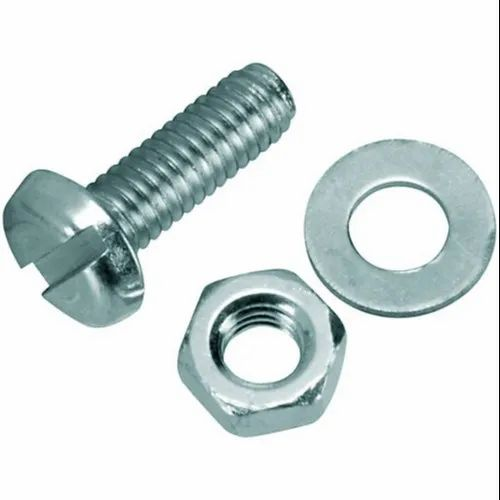 Bolt And Washer >> Mild Steel Nut And Bolt With Washer