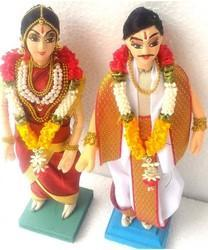 Decorated Wedding Doll Iyengar Pair