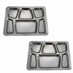 Steel Compartment Tray With 6 Compartment Best Quality