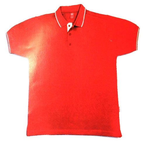 f93effd181f Large Red Mens Collar T Shirt