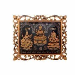 Wooden Multicolor Ganesha And Saraswati Showpiece