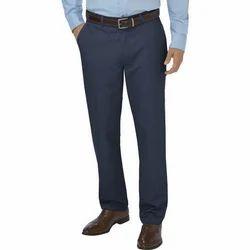 Navy Blue Linen Men's Formal Pant