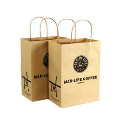 Printed Brown Paper Carry Bags