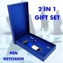 2 in 1 Gift Set Pen and Keychain - Giftana