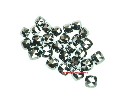 Natural Loose Cushion Cut Black Diamonds Gemstone