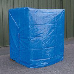 蓝色编织工业篷布,覆盖货物,托盘用